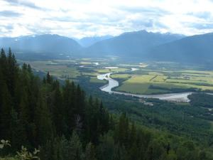 The Robson  Valley and the Fraser River